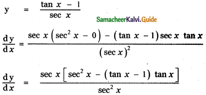 Samacheer Kalvi 11th Maths Guide Chapter 10 Differentiability and Methods of Differentiation Ex 10.2 4