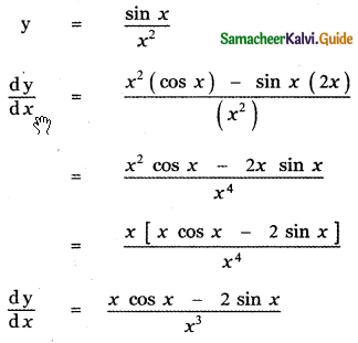 Samacheer Kalvi 11th Maths Guide Chapter 10 Differentiability and Methods of Differentiation Ex 10.2 6