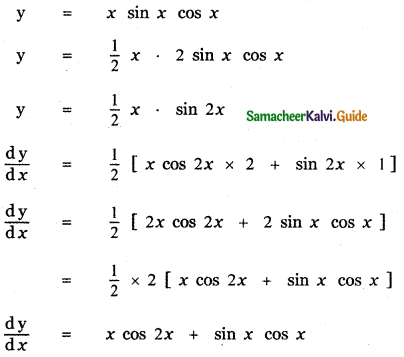 Samacheer Kalvi 11th Maths Guide Chapter 10 Differentiability and Methods of Differentiation Ex 10.2 9