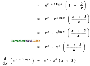 Samacheer Kalvi 11th Maths Guide Chapter 10 Differentiability and Methods of Differentiation Ex 10.5 12