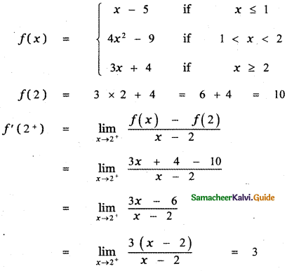 Samacheer Kalvi 11th Maths Guide Chapter 10 Differentiability and Methods of Differentiation Ex 10.5 21