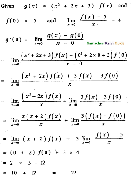 Samacheer Kalvi 11th Maths Guide Chapter 10 Differentiability and Methods of Differentiation Ex 10.5 29