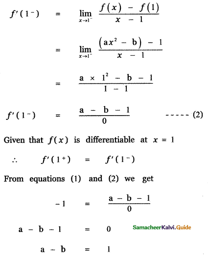 Samacheer Kalvi 11th Maths Guide Chapter 10 Differentiability and Methods of Differentiation Ex 10.5 37