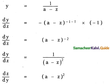 Samacheer Kalvi 11th Maths Guide Chapter 10 Differentiability and Methods of Differentiation Ex 10.5 8