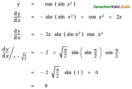 Samacheer Kalvi 11th Maths Guide Chapter 10 Differentiability and Methods of Differentiation Ex 10.5 9