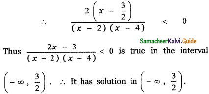 Samacheer Kalvi 11th Maths Guide Chapter 2 Basic Algebra Ex 2.8 6