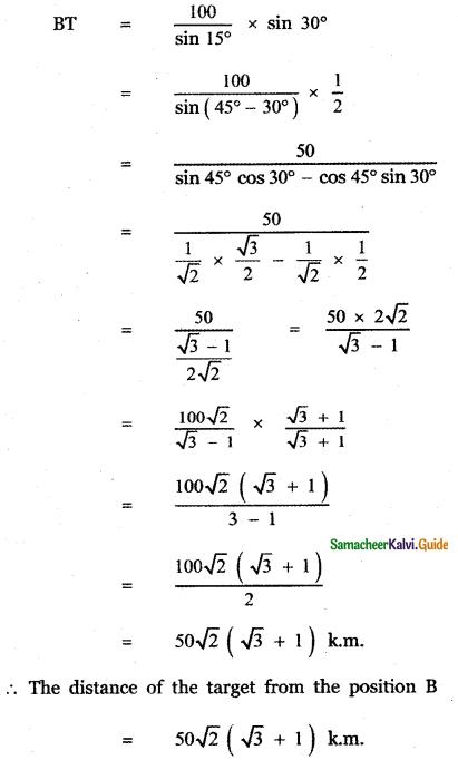 Samacheer Kalvi 11th Maths Guide Chapter 3 Trigonometry Ex 3.10 23