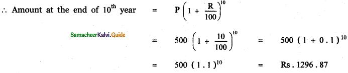 Samacheer Kalvi 11th Maths Guide Chapter 5 Binomial Theorem, Sequences and Series Ex 5.3 20