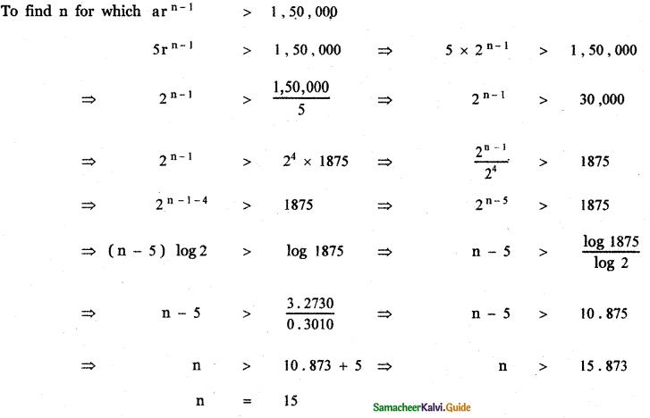 Samacheer Kalvi 11th Maths Guide Chapter 5 Binomial Theorem, Sequences and Series Ex 5.3 21