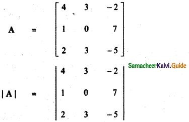 Samacheer Kalvi 11th Maths Guide Chapter 7 Matrices and Determinants Ex 7.2 50