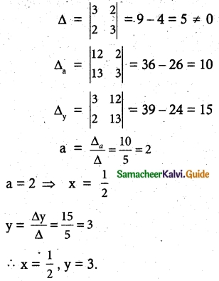 Samacheer Kalvi 12th Maths Guide Chapter 1 Applications of Matrices and Determinants Ex 1.4 2