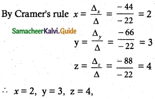 Samacheer Kalvi 12th Maths Guide Chapter 1 Applications of Matrices and Determinants Ex 1.4 3