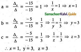 Samacheer Kalvi 12th Maths Guide Chapter 1 Applications of Matrices and Determinants Ex 1.4 6