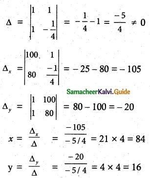 Samacheer Kalvi 12th Maths Guide Chapter 1 Applications of Matrices and Determinants Ex 1.4 7