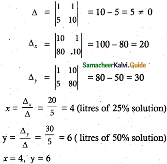 Samacheer Kalvi 12th Maths Guide Chapter 1 Applications of Matrices and Determinants Ex 1.4 8