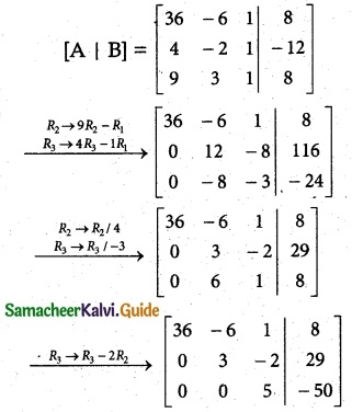 Samacheer Kalvi 12th Maths Guide Chapter 1 Applications of Matrices and Determinants Ex 1.5 5
