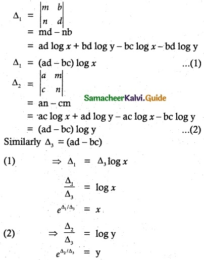 Samacheer Kalvi 12th Maths Guide Chapter 1 Applications of Matrices and Determinants Ex 1.8 23