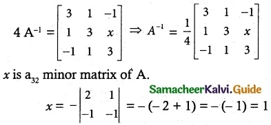Samacheer Kalvi 12th Maths Guide Chapter 1 Applications of Matrices and Determinants Ex 1.8 27