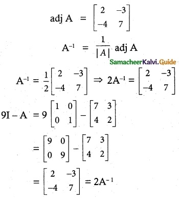 Samacheer Kalvi 12th Maths Guide Chapter 1 Applications of Matrices and Determinants Ex 1.8 4
