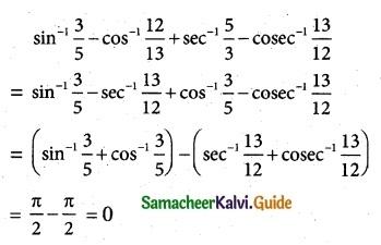 Samacheer Kalvi 12th Maths Guide Chapter 4 Inverse Trigonometric Functions Ex 4.6 1
