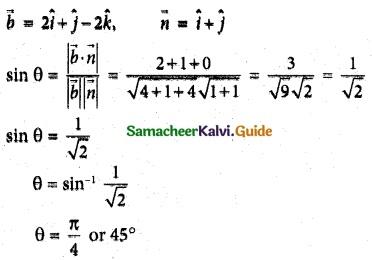 Samacheer Kalvi 12th Maths Guide Chapter 6 Applications of Vector Algebra Ex 6.10 12