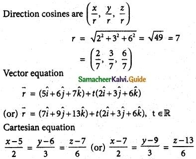 Samacheer Kalvi 12th Maths Guide Chapter 6 Applications of Vector Algebra Ex 6.4 4