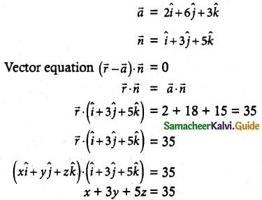 Samacheer Kalvi 12th Maths Guide Chapter 6 Applications of Vector Algebra Ex 6.6 3