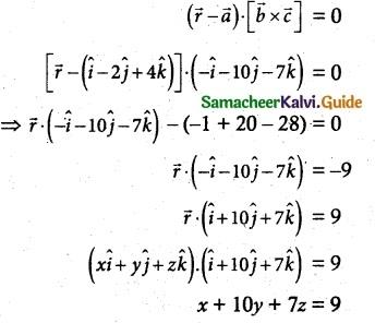 Samacheer Kalvi 12th Maths Guide Chapter 6 Applications of Vector Algebra Ex 6.7 5