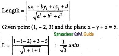 Samacheer Kalvi 12th Maths Guide Chapter 6 Applications of Vector Algebra Ex 6.9 4