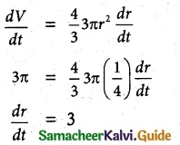 Samacheer Kalvi 12th Maths Guide Chapter 7 Applications of Differential Calculus Ex 7.10 1