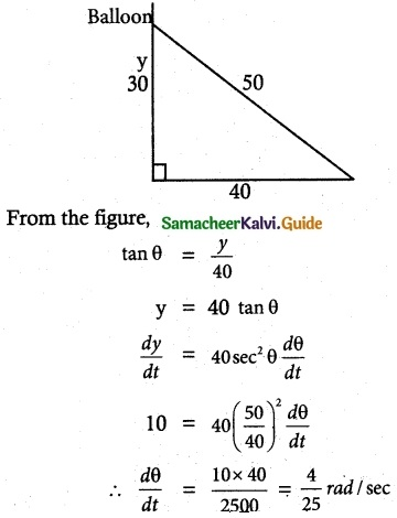Samacheer Kalvi 12th Maths Guide Chapter 7 Applications of Differential Calculus Ex 7.10 2