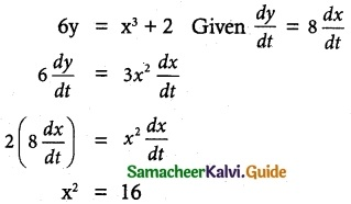 Samacheer Kalvi 12th Maths Guide Chapter 7 Applications of Differential Calculus Ex 7.10 3