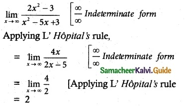 Samacheer Kalvi 12th Maths Guide Chapter 7 Applications of Differential Calculus Ex 7.5 2