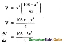 Samacheer Kalvi 12th Maths Guide Chapter 7 Applications of Differential Calculus Ex 7.8 10