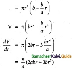 Samacheer Kalvi 12th Maths Guide Chapter 7 Applications of Differential Calculus Ex 7.8 12
