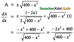 Samacheer Kalvi 12th Maths Guide Chapter 7 Applications of Differential Calculus Ex 7.8 5