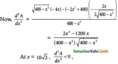 Samacheer Kalvi 12th Maths Guide Chapter 7 Applications of Differential Calculus Ex 7.8 6