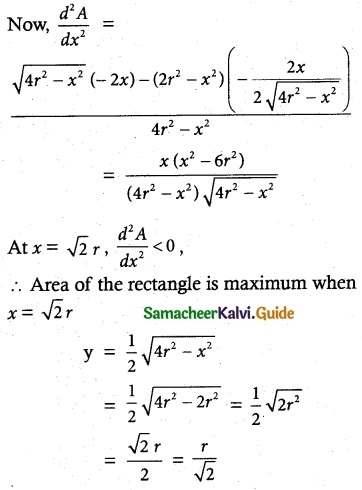 Samacheer Kalvi 12th Maths Guide Chapter 7 Applications of Differential Calculus Ex 7.8 9