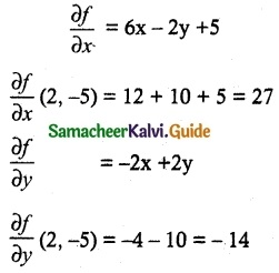 Samacheer Kalvi 12th Maths Guide Chapter 8 Differentials and Partial Derivatives Ex 8.4 1