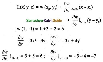 Samacheer Kalvi 12th Maths Guide Chapter 8 Differentials and Partial Derivatives Ex 8.5 1
