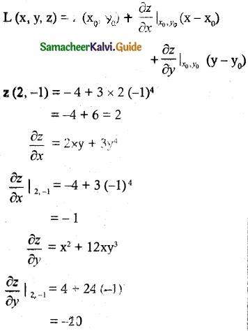 Samacheer Kalvi 12th Maths Guide Chapter 8 Differentials and Partial Derivatives Ex 8.5 2