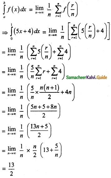 Samacheer Kalvi 12th Maths Guide Chapter 9 Applications of Integration Ex 9.2 1