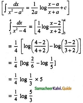 Samacheer Kalvi 12th Maths Guide Chapter 9 Applications of Integration Ex 9.3 1