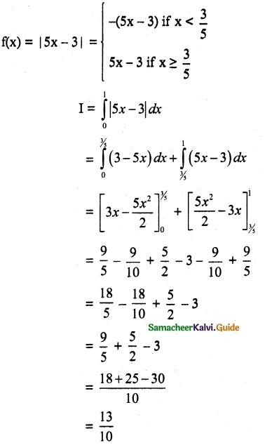 Samacheer Kalvi 12th Maths Guide Chapter 9 Applications of Integration Ex 9.3 13