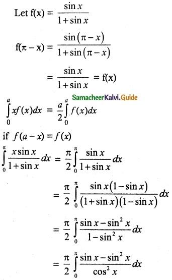 Samacheer Kalvi 12th Maths Guide Chapter 9 Applications of Integration Ex 9.3 18