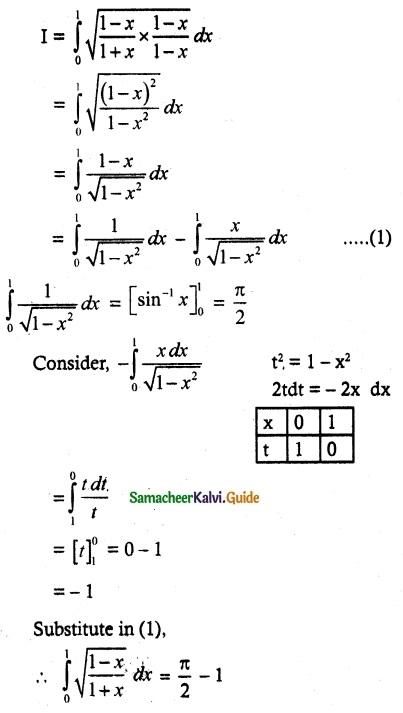 Samacheer Kalvi 12th Maths Guide Chapter 9 Applications of Integration Ex 9.3 3