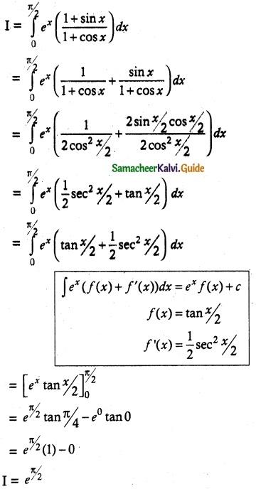 Samacheer Kalvi 12th Maths Guide Chapter 9 Applications of Integration Ex 9.3 4