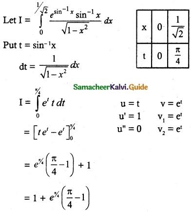 Samacheer Kalvi 12th Maths Guide Chapter 9 Applications of Integration Ex 9.4 3
