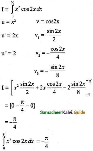 Samacheer Kalvi 12th Maths Guide Chapter 9 Applications of Integration Ex 9.4 4