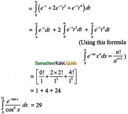 Samacheer Kalvi 12th Maths Guide Chapter 9 Applications of Integration Ex 9.7 3
